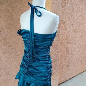 Jessica McClintock Dresses - Jessica McClintock   halter satin prom dress